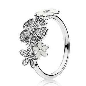 Pandora Shimmering Bouquet Daisy Ring Size 7 54